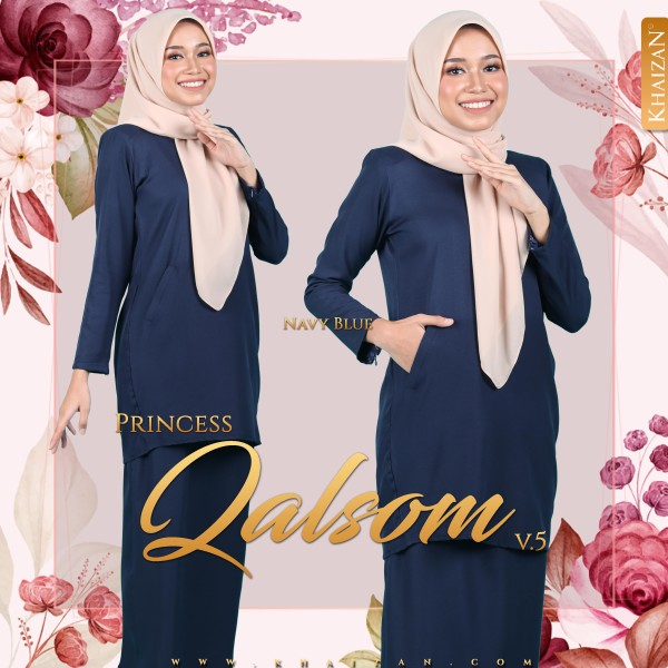 PRINCESS QALSOM V5 - NAVY BLUE - KHAIZAN