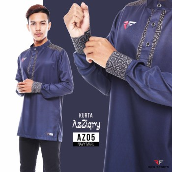 KURTA EXCLUSIVE - NAVY MARL