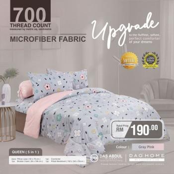 [SM ONLY] NEW DESIGN COMFORTER 5 IN 1 - QUEEN