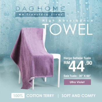 [SM ONLY] TOWEL DAG HOME - Ultra Violet