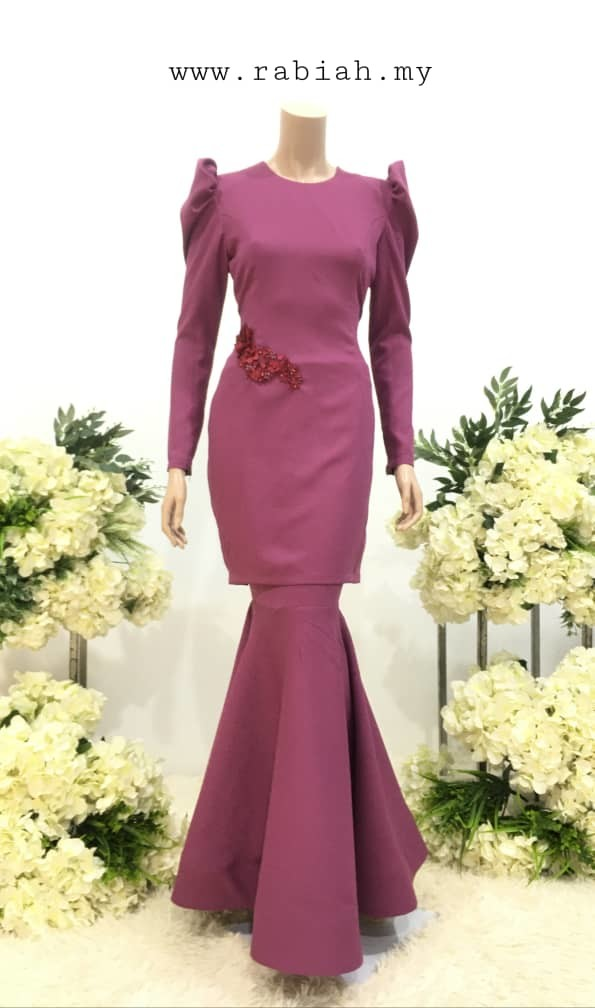 kurung siti purple - RB COLLECTION