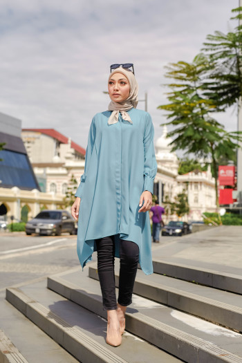 TUNIC SAMARA - TEAL GREEN