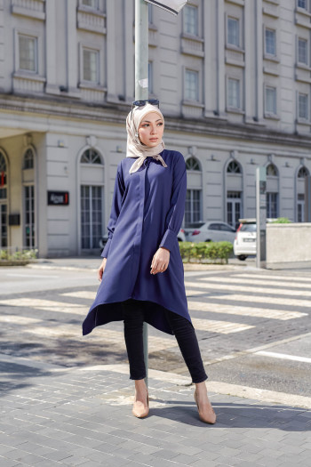 TUNIC SAMARA - NAVY BLUE
