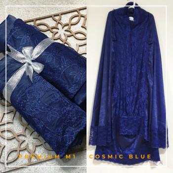 Telekung / Mukena Maxmara Silk - Cosmic Blue