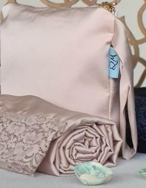 Telekung / Mukena Armani Silk - Ivory Cream with Lace