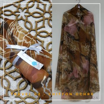 Telekung / Mukena Chiffon - Ochre - Qool Muslimah