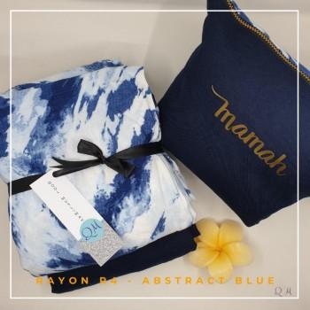 Telekung / Mukena Rayon - Abstract Blue