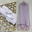 10. Telekung / Mukena Armani Silk - Light Lilac - Qool Muslimah