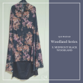 P29. Telekung/Mukena Armani Silk Woodland Series-Midnight Black - Qool Muslimah