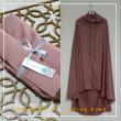 07. Telekung / Mukena Armani Silk - Brick Pink - Qool Muslimah