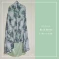 P20. Telekung/Mukena Armani Silk Rush Series - Green Rush - Qool Muslimah