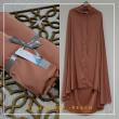 21. Telekung / Mukena Armani Silk - Peach - Qool Muslimah