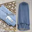 18. Telekung / Mukena Armani Silk - Princess Blue - Qool Muslimah