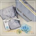 P17.Telekung/Mukena Armani Silk Snowflakes-Winter Blue Snowflakes - Qool Muslimah