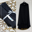 25a. Telekung / Mukena Armani Silk - Black - Qool Muslimah
