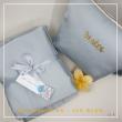 28. Telekung / Mukena Armani Silk - Ice Blue - Qool Muslimah