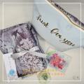 P18. Telekung/Mukena Armani Silk Floral Series - Pink Blue Floral - Qool Muslimah