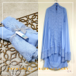 Telekung / Mukena Zara Silk - Blue Lullaby - Qool Muslimah