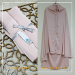 01. Telekung / Mukena Armani Silk - Light Pink - Qool Muslimah