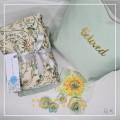 P3. Telekung/Mukena Armani Silk Garden Series - Mint Garden - Qool Muslimah