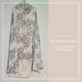P19. Telekung Armani Silk Woodland Series-Light Cream Woodland - Qool Muslimah