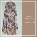 P23. Telekung/Mukena Armani Silk - Auburn Montage - Qool Muslimah