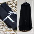 25b. Telekung / Mukena Armani Silk - Black with Lace - Qool Muslimah