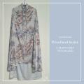 P28. Telekung/Mukena Armani Silk Woodland Series - Misty Grey - Qool Muslimah
