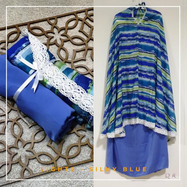 Travel Chiffon Silky - Blue - Qool Muslimah