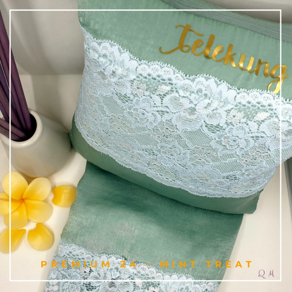 Telekung / Mukena Zara Silk - Mint Treat - Qool Muslimah