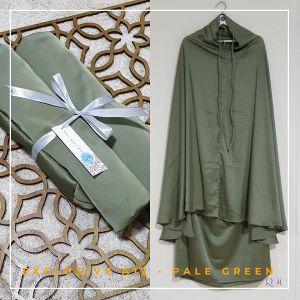 Telekung / Mukena Armani Silk - Pale Green - Qool Muslimah
