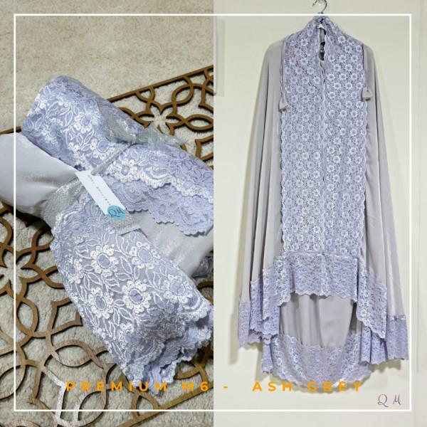 Telekung / Mukena Maxmara Silk - Ash Grey - Qool Muslimah