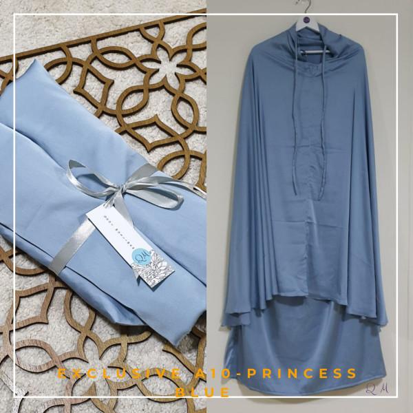 Telekung / Mukena Armani Silk - Princess Blue - Qool Muslimah