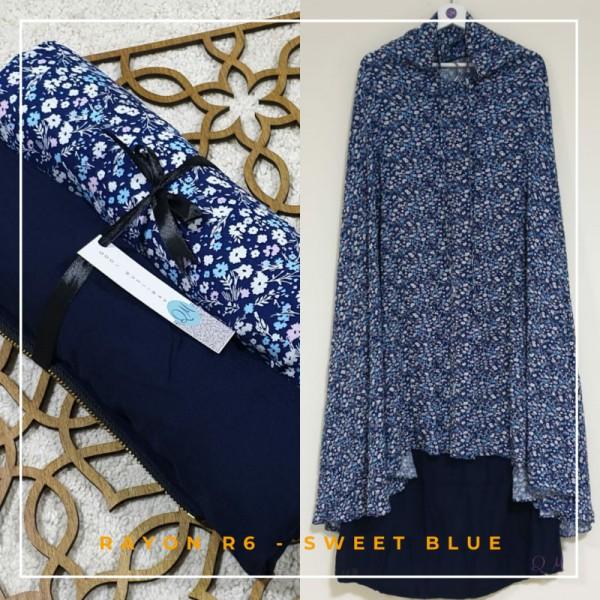 Telekung / Mukena Rayon - Sweet Blue - Qool Muslimah