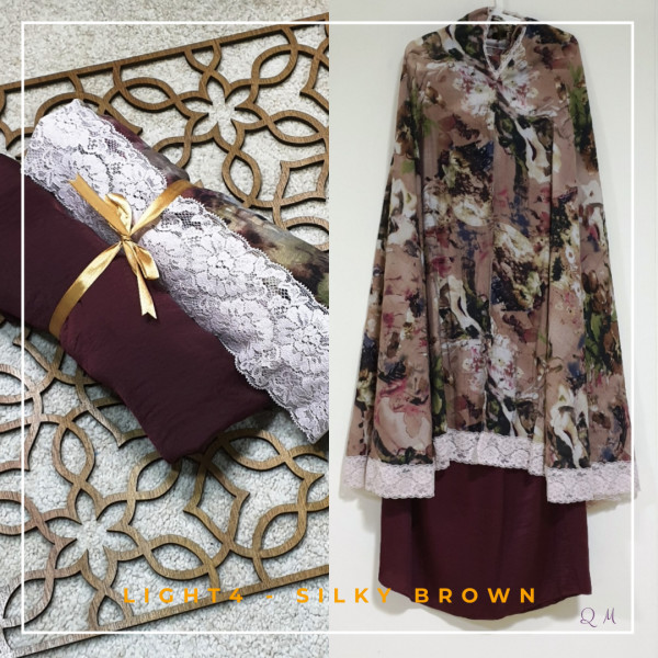 Travel Chiffon Silky - Brown - Qool Muslimah