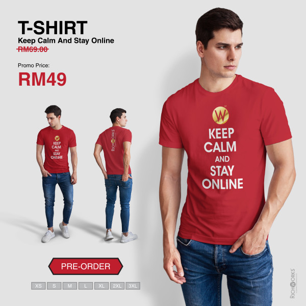 [Pre Order] T-SHIRT Keep Calm And Stay Online - Richworks