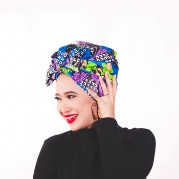 ALIA D WRAPS PINK SEMI INSTANT TURBAN (PLAIN) - Virtual CelebFest