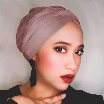 ALIA D WRAPS LAVANDA SEMI INSTANT TURBAN (PLAIN) - Virtual CelebFest