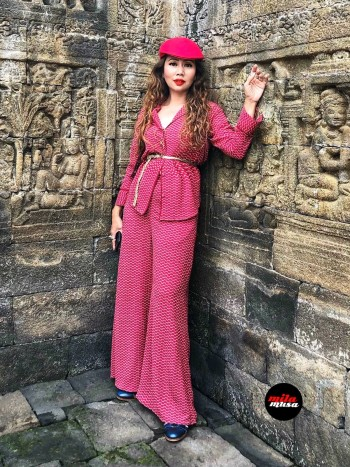 Mila Musa - Princess Kimono Kebaya Midi Red - Virtual CelebFest