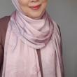 Maryam Amelie : Hibiscus Shawl Satin (Rose Blush) - Virtual CelebFest