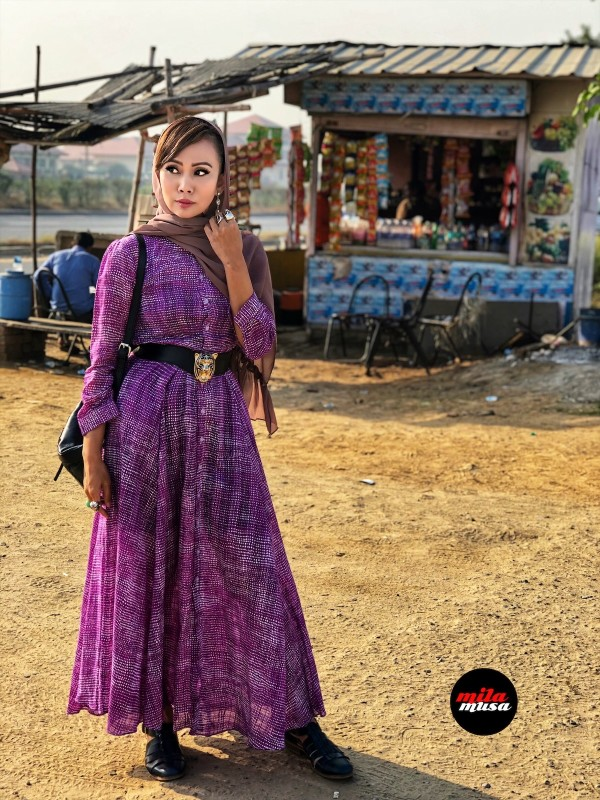 Mila Musa - Princess Maxi Shirt Dress Purple Rain - Virtual CelebFest