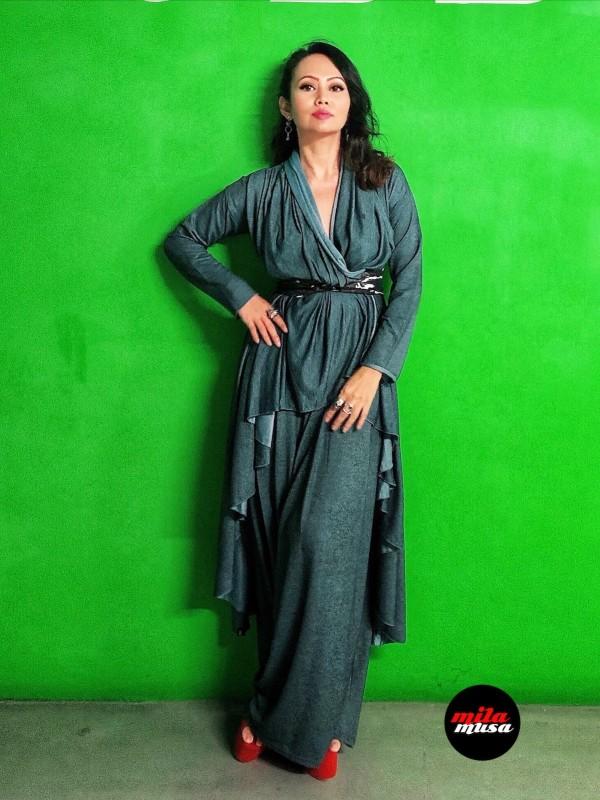 Mila Musa - Kimono Reversible Irregular   - Virtual CelebFest