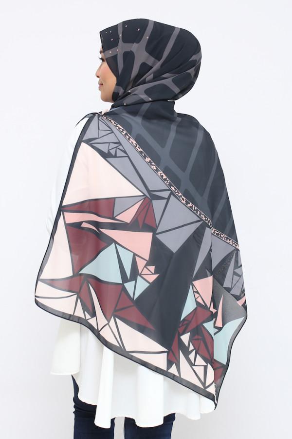 Black Nadeeya Mosaic (shawl) - Virtual CelebFest
