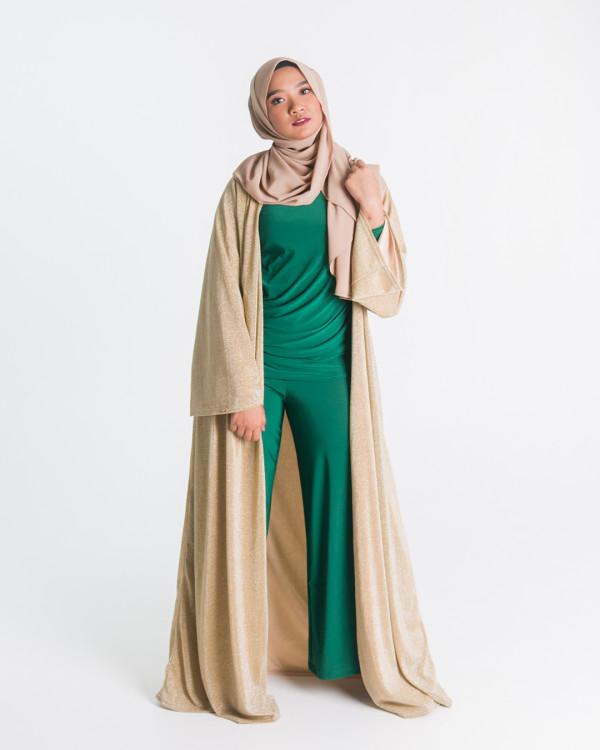 Zaryluq - Knitted Glitter Cardigan in Rose Gold - Virtual CelebFest