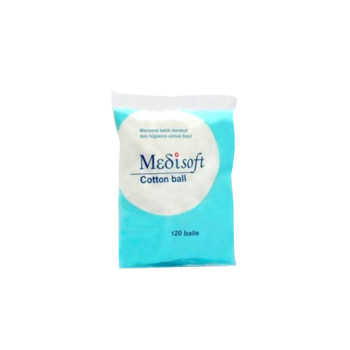 MEDISOFT COTTON BALL 120 PIECES (75 G)