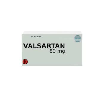 VALSARTAN 80 MG 10 TABLET