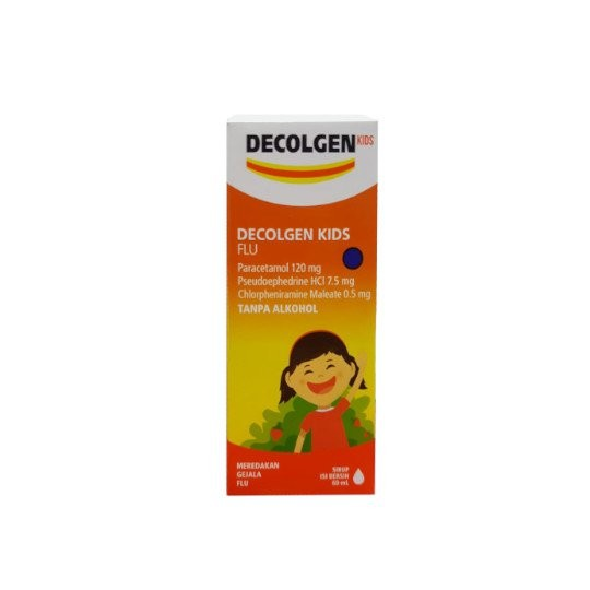 DECOLGEN KIDS FLU SIRUP 60 ML - GriyaFarmaOnline