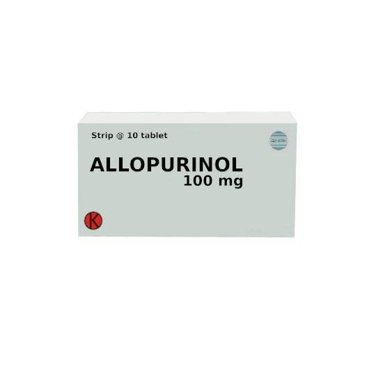 ALLOPURINOL 100 MG 10 TABLET - GriyaFarmaOnline