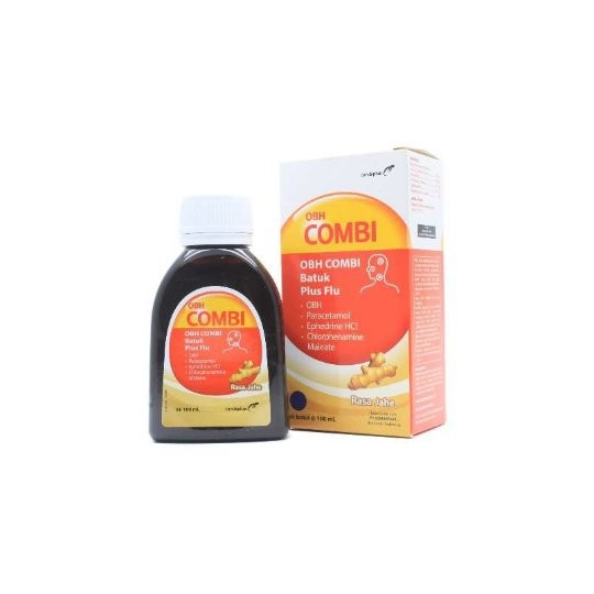 OBH COMBI BATUK PLUS FLU JAHE 100 ML - GriyaFarmaOnline