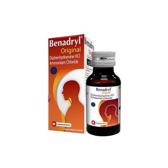 BENADRYL ORIGINAL SIRUP 50 ML - GriyaFarmaOnline